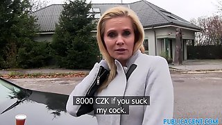 Белокурая мамаша отсосала мужику в автомобиле и занялась с ним сексом