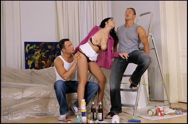 Троица напилась и перетрахалась