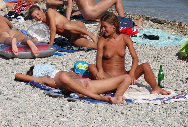 Реальное порно с нудистских пляжей