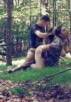 Секс рачком на природе