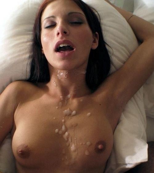 Фото порно грудь в сперме анал трах