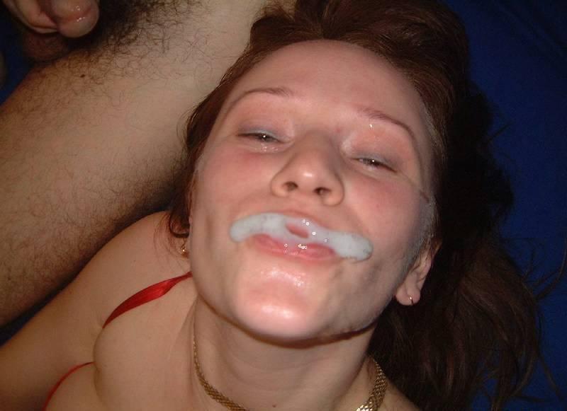 Сперма на лицах красивых девушек