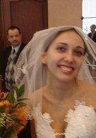 Брюнетка показала письку сразу после свадьбы 1 фотография