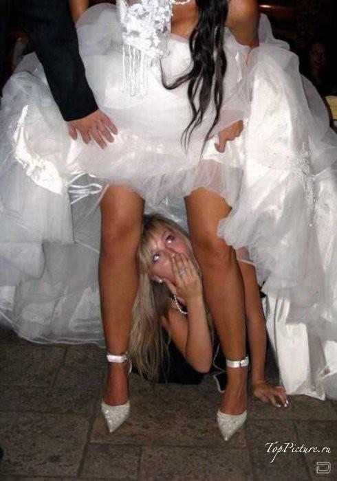 Невесты обожают шалить в день свадьбы