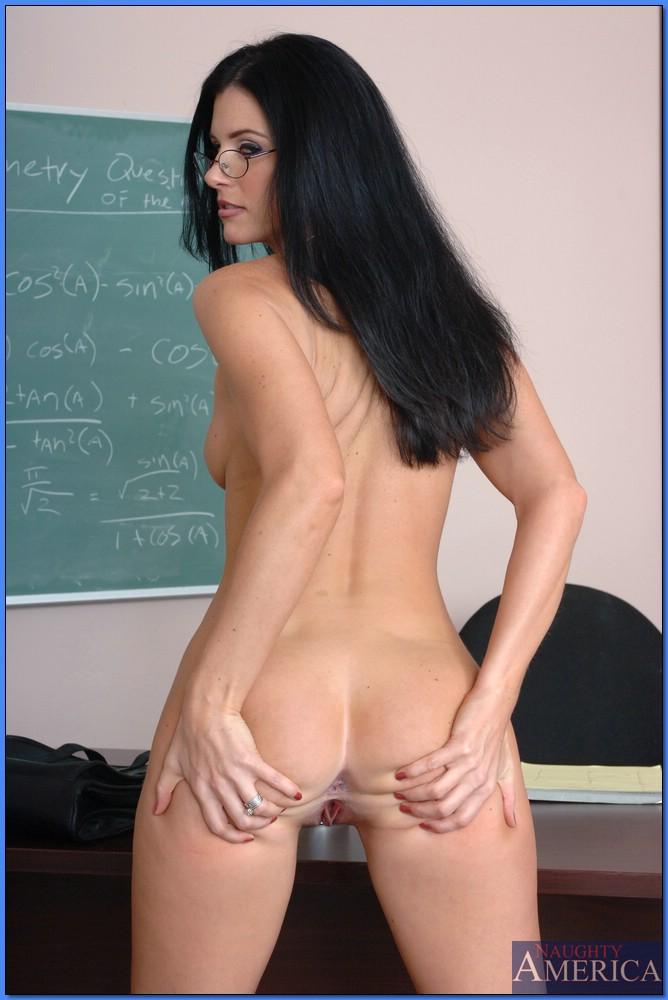 Огненная учительница оголяется на работе