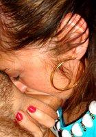 Супруг спускает сперму на лицо милфы после глубокого минета 10 фотография